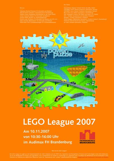 Poster zur LEGO League 2007